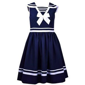 Bonnie Jean Girls Navy Nautical Sailor Dress